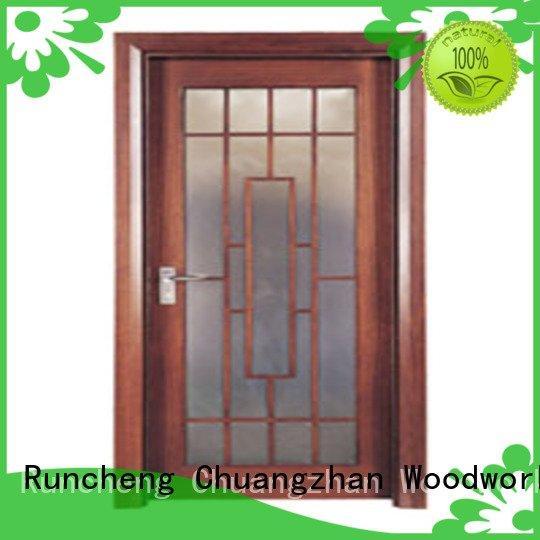 x0134 x0283 x0133 wooden glazed front doors Runcheng Woodworking