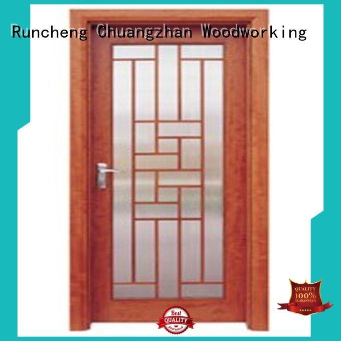 Runcheng Chuangzhan glazed white glazed interior doors wholesale for villas