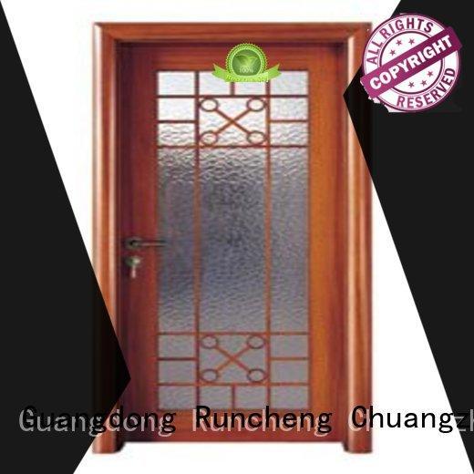 Runcheng Chuangzhan glazed wooden double glazed doors for business for homes