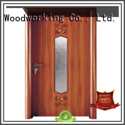 door wooden glazed front doors door glazed wooden double glazed doors Runcheng Woodworking Brand glazed
