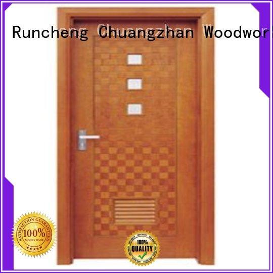 Runcheng Chuangzhan modern pine wood flush door manufacturer manufacturer for hotels