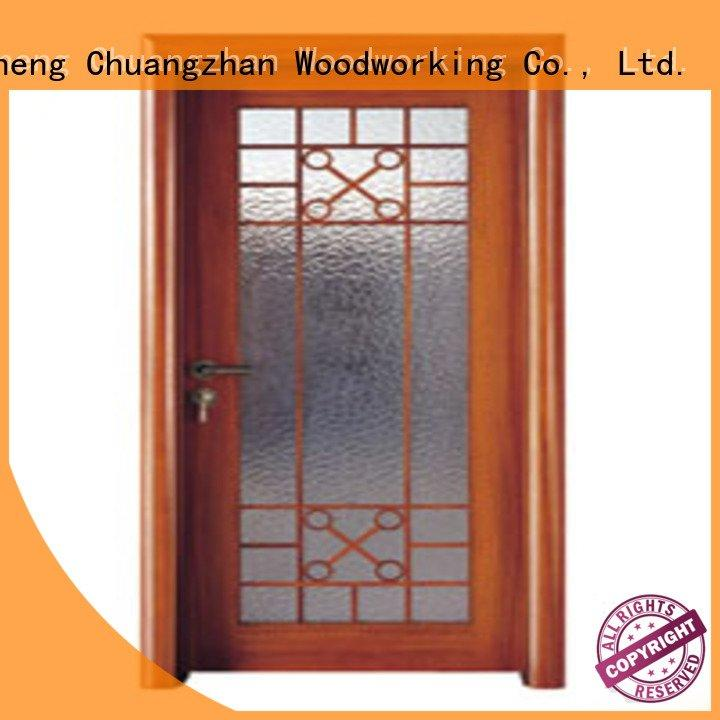 Runcheng Woodworking Brand x0223 wooden glazed front doors x0253 l0084