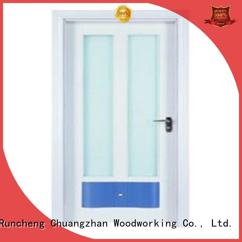 Hot hardwood glazed internal doors durable Runcheng Woodworking Brand
