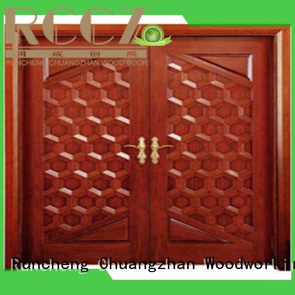 Quality white double doors Runcheng Woodworking Brand door interior double doors