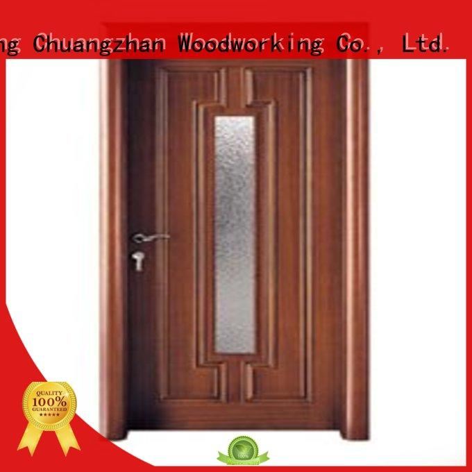 Runcheng Chuangzhan durability glazed wood door wholesale for offices