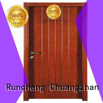 Runcheng Woodworking Brand durable door interior wooden door with solid wood wooden factory