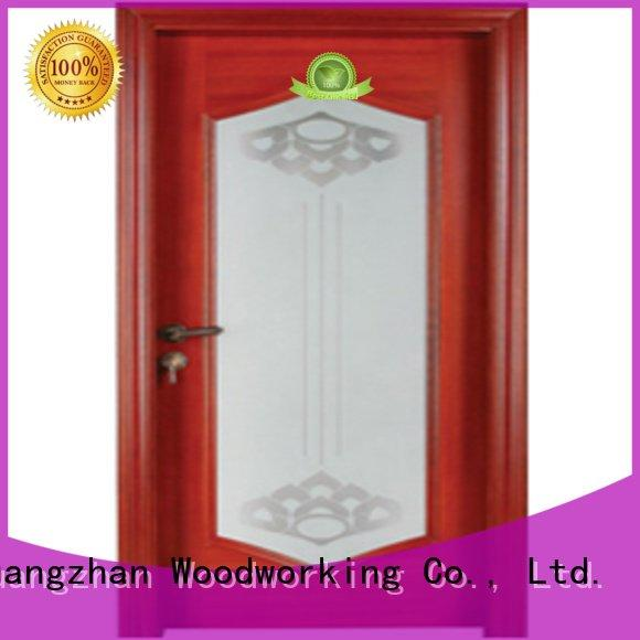 Runcheng Woodworking solid pure wooden glazed doors door wood