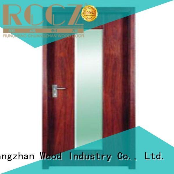 plywood flush internal doors durable flush hot selling Runcheng Chuangzhan Brand wooden flush door