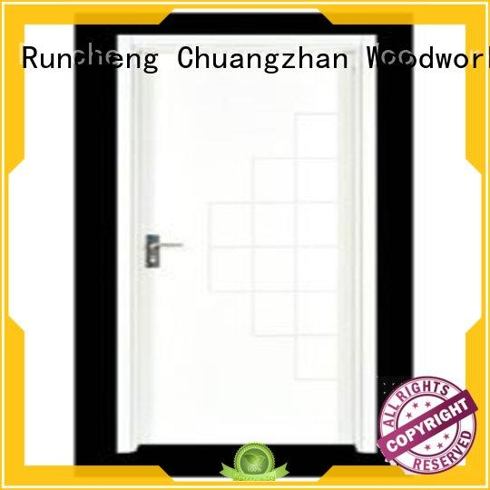 Runcheng Chuangzhan modern hardwood flush door series for hotels
