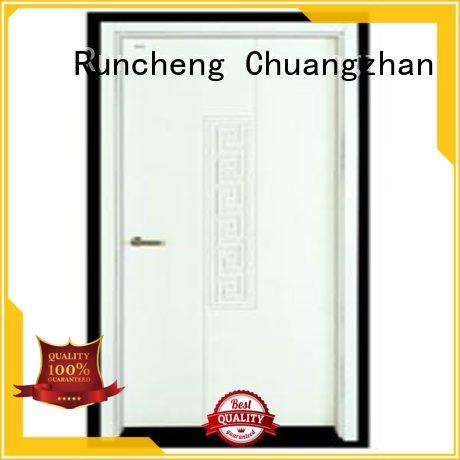 Runcheng Chuangzhan modern pine wood flush door manufacturer wholesale for hotels