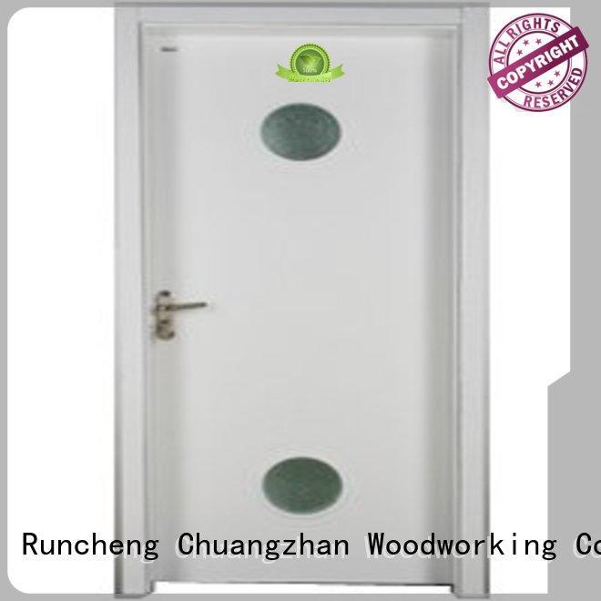 Wholesale door wooden double glazed windows solid Runcheng Woodworking Brand