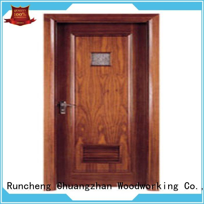 Quality flush mdf interior wooden door Runcheng Woodworking Brand pp005t2 wooden flush door
