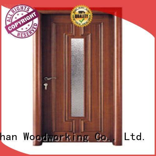 Runcheng Woodworking Brand door glazed glazed wooden double glazed doors