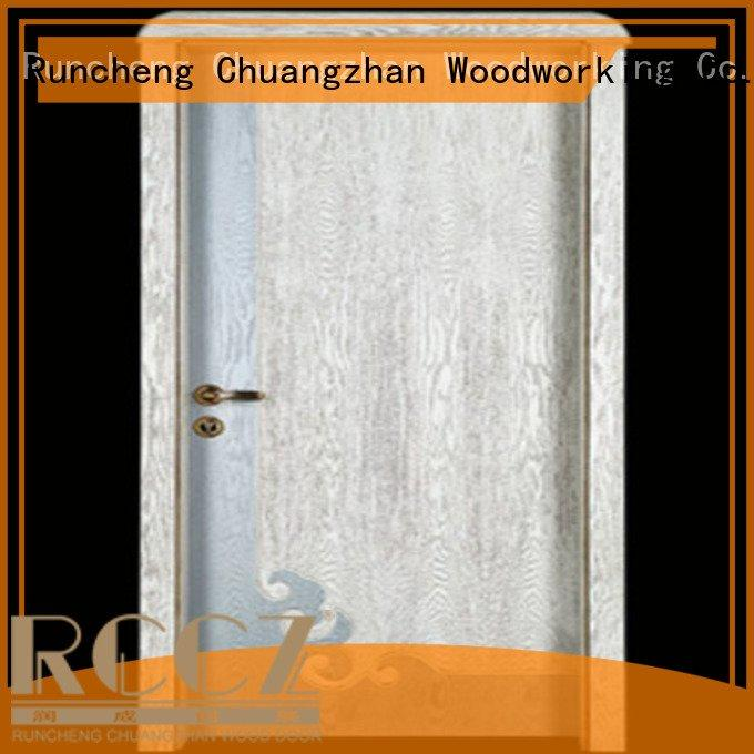 Runcheng Woodworking Brand double auspicious wooden door door bedroom