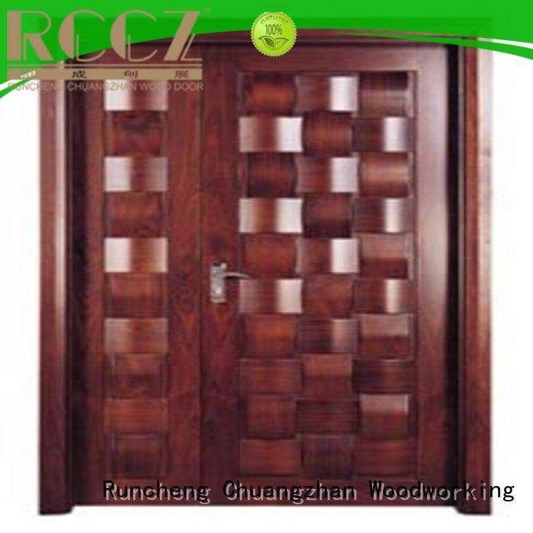 Runcheng Chuangzhan durability wooden double doors Supply for indoor