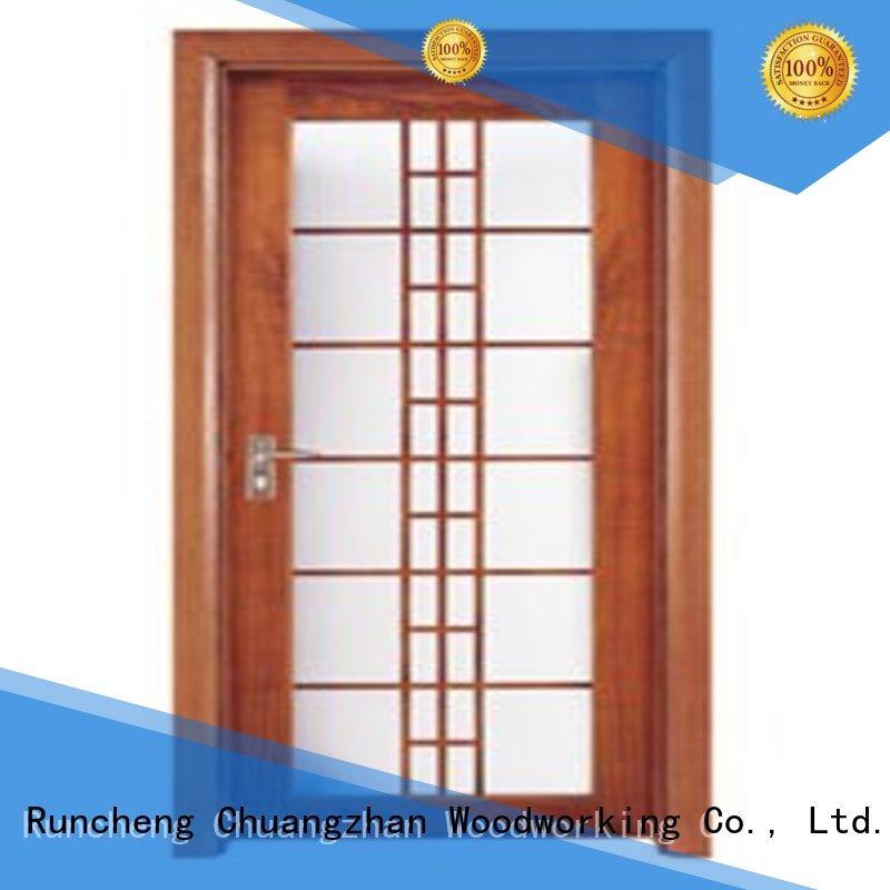 door glazed durable Runcheng Woodworking Brand wooden double glazed doors