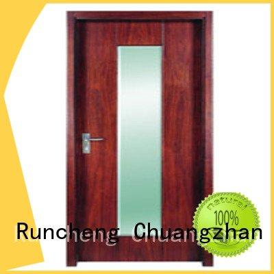 Runcheng Woodworking flush mdf interior wooden door pp0012 pp0143 pp0153 pp0122