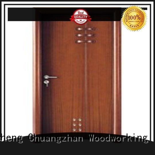 Runcheng Chuangzhan attractive wooden bathroom door supplier for indoor
