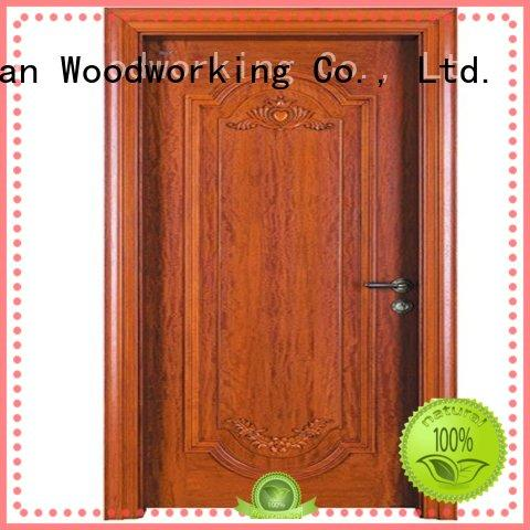 Runcheng Woodworking Brand durable wooden custom cheap wooden front doors
