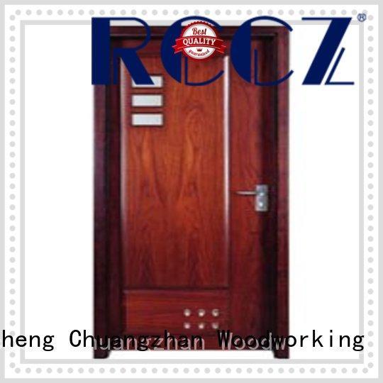 Runcheng Chuangzhan exquisite pine wood flush door manufacturer supplier for villas