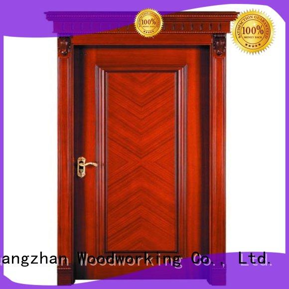 kitchen wood veneer door bedroom bathroom Runcheng Woodworking company