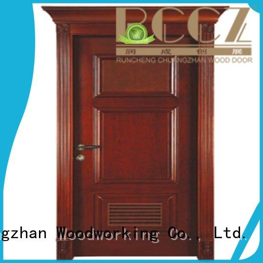 Runcheng Chuangzhan eco-friendly solid wood compound door Suppliers for offices