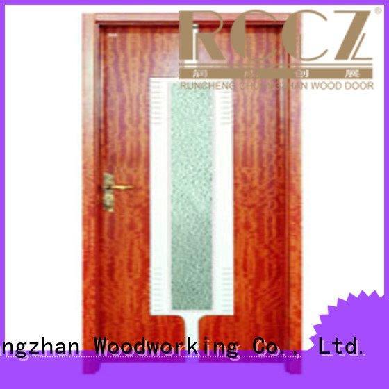 wooden glazed front doors x0104 x0234 Runcheng Woodworking Brand