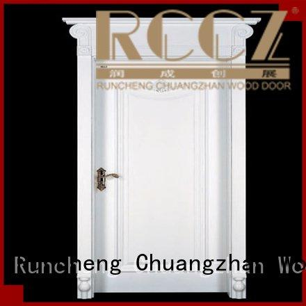 internal white mdf composited wooden door sunshine mdf composite wooden door mediterranean1 Runcheng Woodworking
