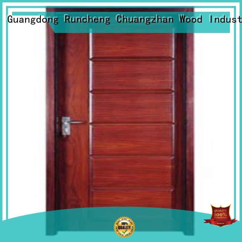 plywood flush internal doors hot selling Runcheng Chuangzhan Brand wooden flush door