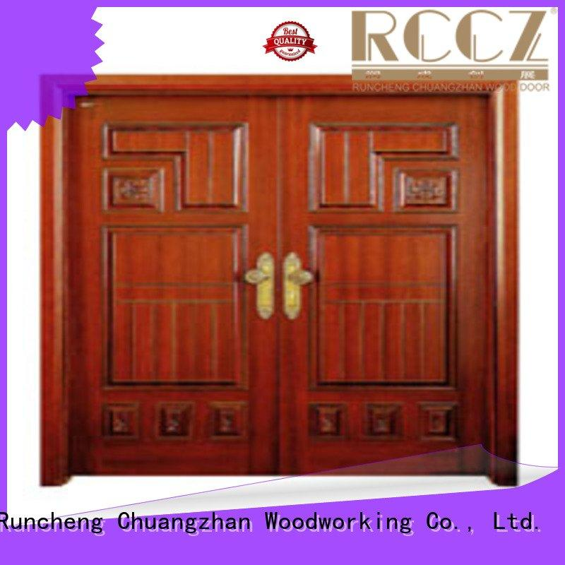 door double double interior double doors Runcheng Woodworking