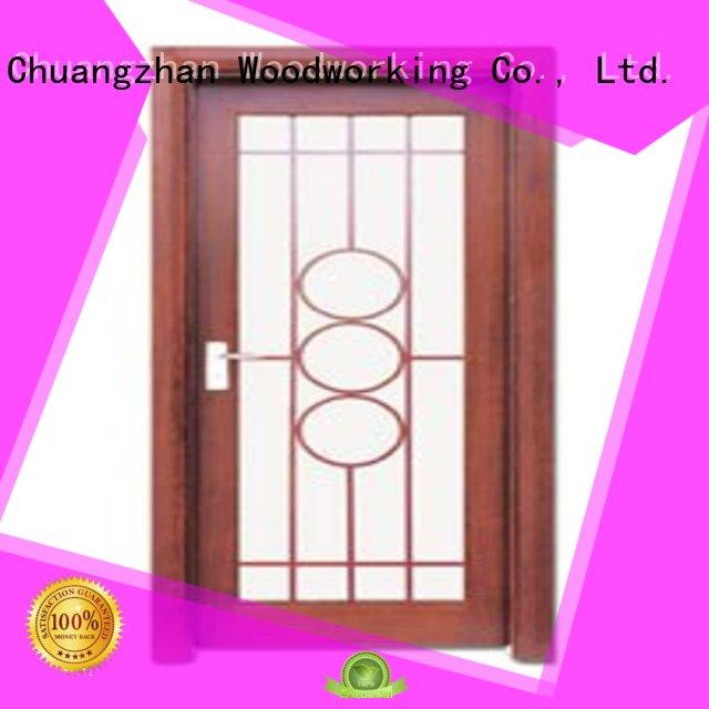 durable door wooden double glazed doors glazed Runcheng Woodworking Brand