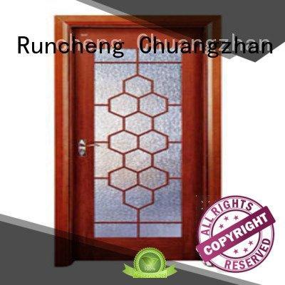 glazed door wooden glazed front doors Runcheng Woodworking