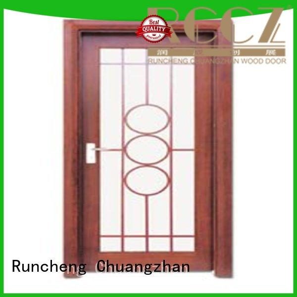 Runcheng Chuangzhan eco-friendly wooden double glazed doors factory for hotels