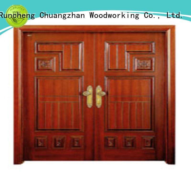 x0215 x0261 l0081 Runcheng Woodworking interior double doors