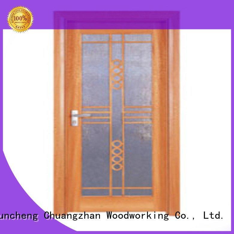 Hot wooden glazed front doors l0083 wooden double glazed doors x0183 Runcheng Woodworking