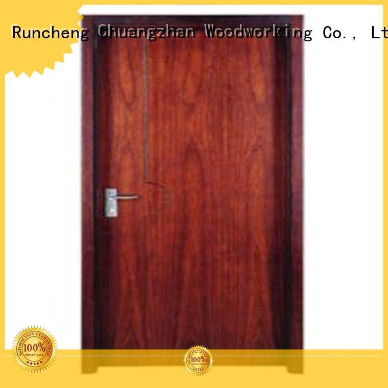 durable flush door Runcheng Woodworking Brand flush mdf interior wooden door manufacture