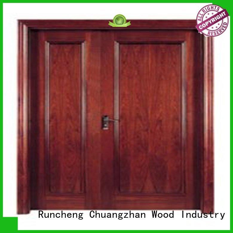design veneered flush wood door popular for indoor Runcheng Chuangzhan