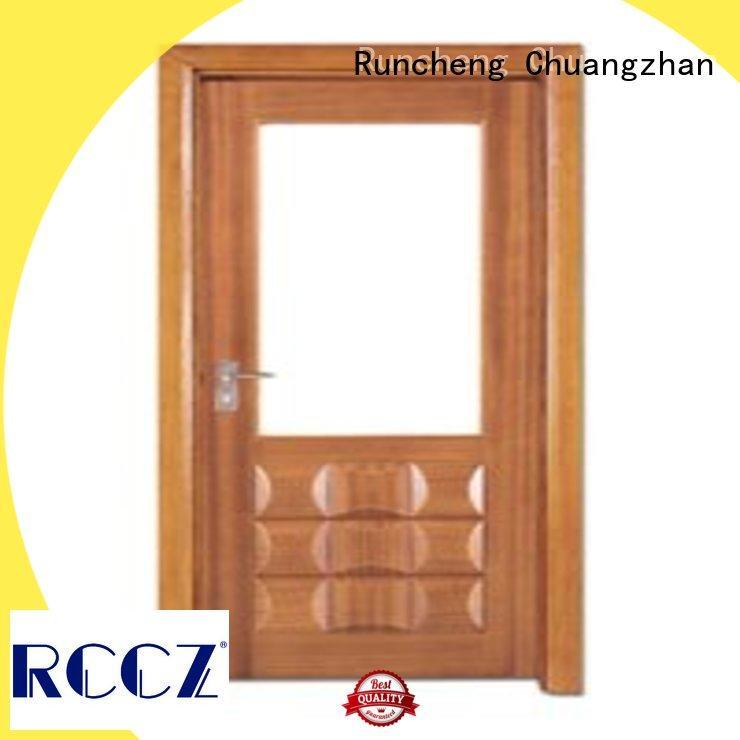 Runcheng Chuangzhan high-grade glazed wood door supplier for villas