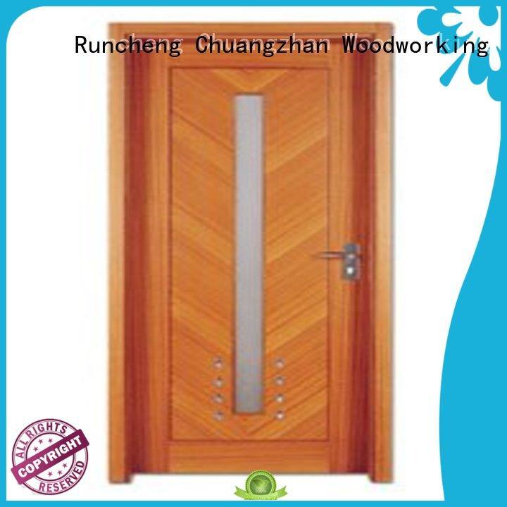 Runcheng Chuangzhan modern pine wood flush door manufacturer supplier for indoor