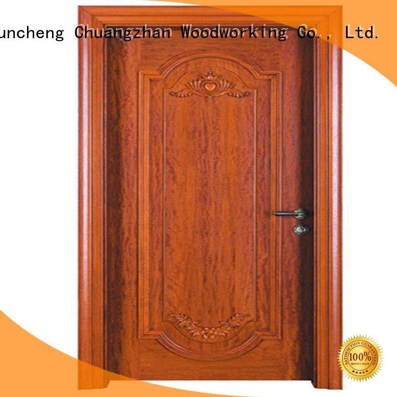 x050 wooden Runcheng Woodworking cheap wooden front doors