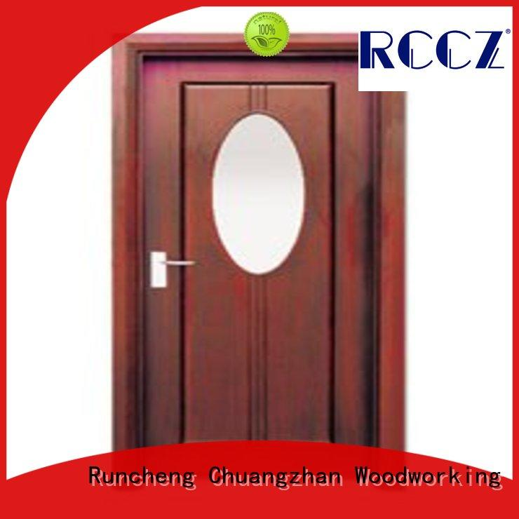 Runcheng Chuangzhan durability wooden double glazed doors manufacturer for indoor