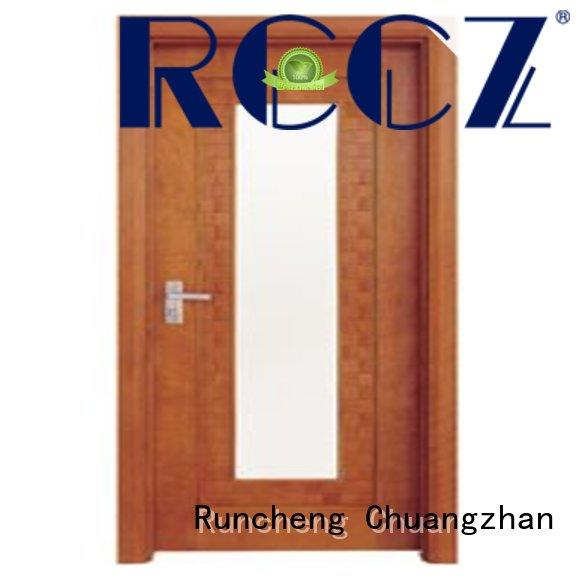 Runcheng Chuangzhan eco-friendly white glazed interior doors for business for indoor