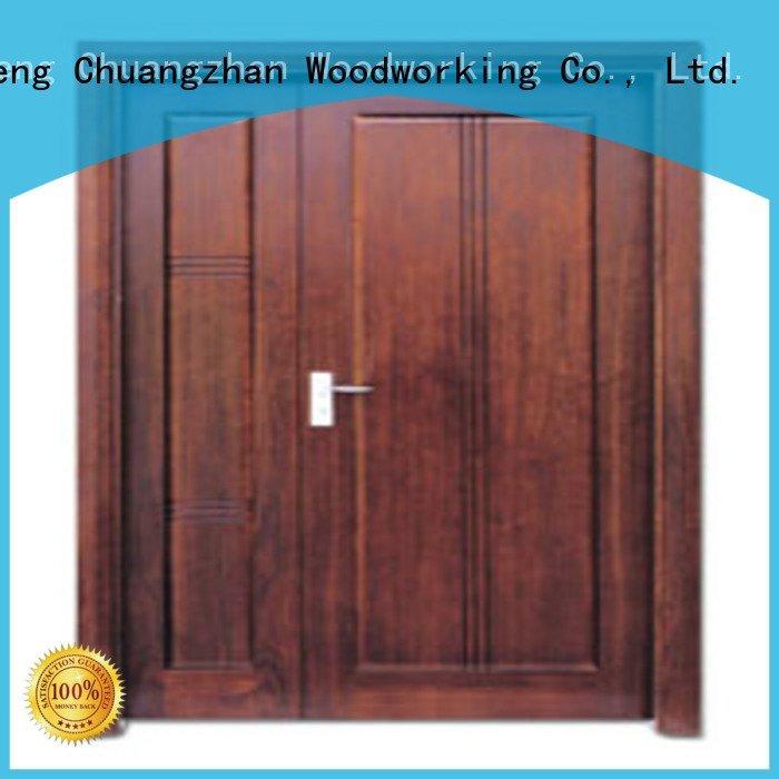 door double double white double doors Runcheng Woodworking