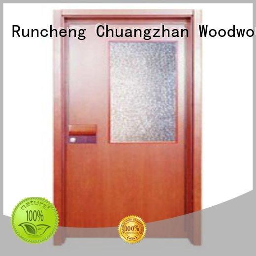 flush mdf interior wooden door hot selling durable Warranty Runcheng Woodworking