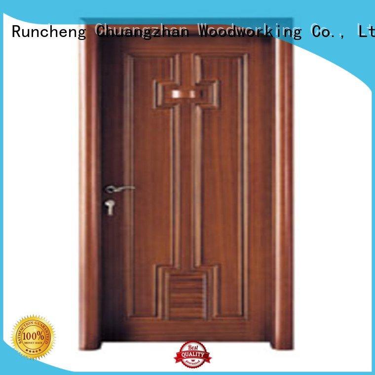 Runcheng Woodworking solid wood bathroom doors bathroom door door door