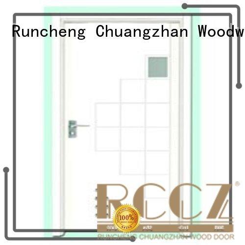 Runcheng Woodworking Brand hot selling flush durable wooden flush door manufacture