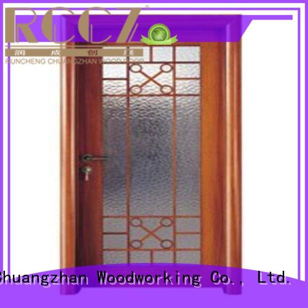 door glazed durable wooden double glazed doors Runcheng Woodworking