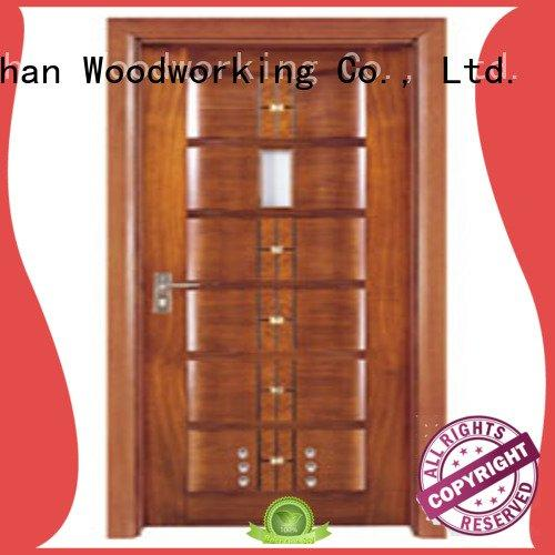 bathroom door door Runcheng Woodworking solid wood bathroom doors