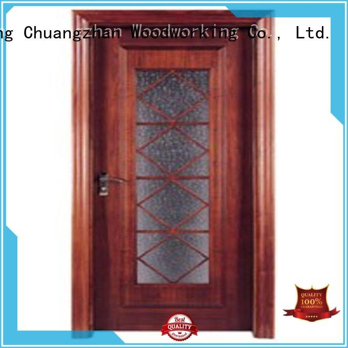 Custom durable wooden double glazed doors glazed Runcheng Woodworking