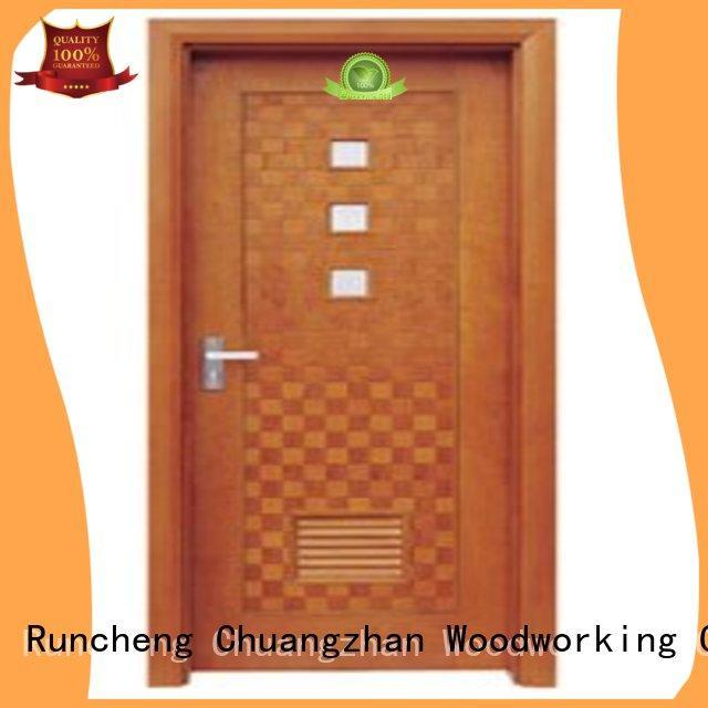flush mdf interior wooden door durable door Runcheng Woodworking Brand